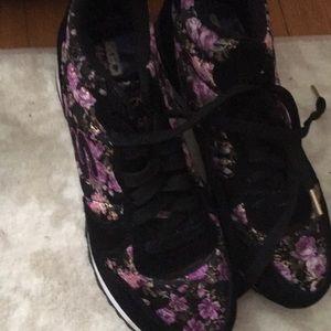 Brand new  Skechers purple. With flower